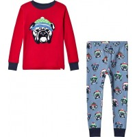 HatleyHund Applikation Pyjamas Röd2 years