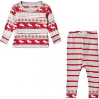 HatleyRed and Grey Moose Pyjamas3-6 months