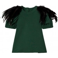 The Tiny UniverseThe Tiny Feathers Deep Green0-3 months (62)