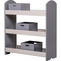 BloomingvilleBookcase w Drawers Grey MDF