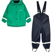 DidriksonsSlaskeman Kids Set 2 Bright Green80 (9-12 mån)