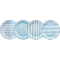JaBaDaBaDo Papptallrikar 8-pack (Ljusblå)
