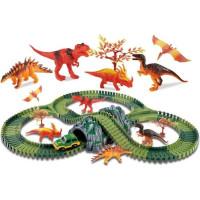 Clixtracks Dinosauriernas bilbana med 157 delar och 1 bil