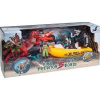 Dino vs World Lekset med dinosaurier figurer och båt