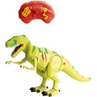Dino vs World Radiostyrd dinosaurie med ljus (Gul)