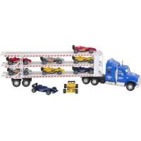 Rapid Speed - Mega lastbil 60 cm med 9st F1 bilar - Blå
