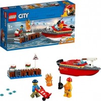LEGO City Fire 60213 Eldsvåda i hamnen