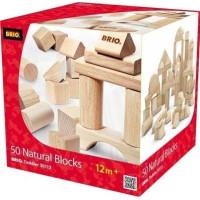BRIO 30113 Set med 50 klossar (Natur)