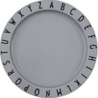 Design Letters ABC Tallrik (Grå)