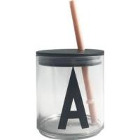 Design Letters Sugrör med Lock (Beige)