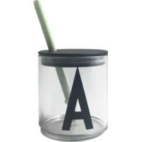 Design Letters Sugrör med Lock (Grön)