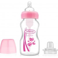 Dr Brown BH Options Transition Sippy Spout 270ml (Rosa)