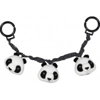 Geggamoja Barnvagnsleksak (Panda Svart/Vit)
