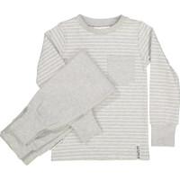 Geggamoja Classic Tvådelad Pyjamas (Ljusgrå Randig)