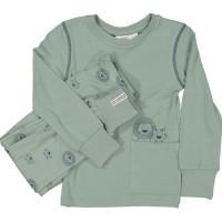Geggamoja Tvådelad Pyjamas (Tiger Grön)