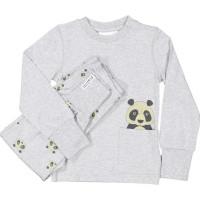 Geggamoja Tvådelad Pyjamas (Panda Grå)