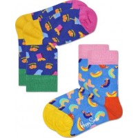 Happy Socks Strumport 2-pack (Hamburgare)