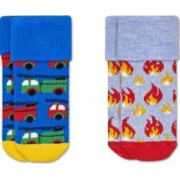 Happy Socks Strumpor 2-pack (On Fire Terry) (13-18)
