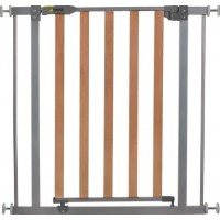 Hauck Wood Lock Safety Gate Säkerhetsgrind (Silver)