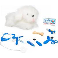 Interaktiv Hund hos veterinär (Vit)