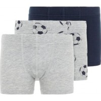name it Boxer Fotboll 3-pack (Grey Melange)