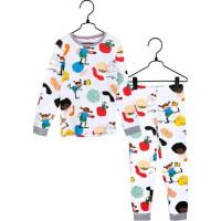 Pippi Långstrump Livlig Tvådelad Pyjamas (Vit)