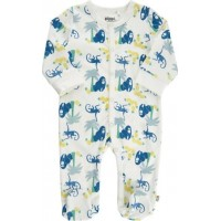 Pippi Pyjamas med fot (Sterling Blue)