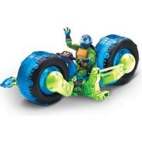 RTMNT Ninja Turtles Motorcykel och Leonardo