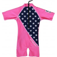 Zunblock UV-dräkt Stars an Stripes (Rosa)