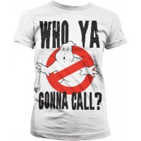 Ghostbusters Who Ya Gonna Call Dam T-Shirt Vit