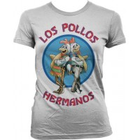 Breaking Bad Los Pollos Hermanos Dam T-Shirt Vit