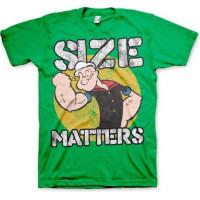 Popeye Size Matters T-Shirt Grön