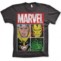 Marvel Distressed Characters T-Shirt Mörkgrå