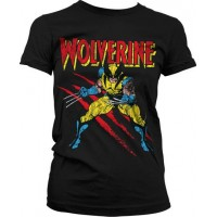 Wolverine Scratches Girly T-Shirt Svart