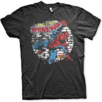 Distressed Spider-Man T-Shirt Svart