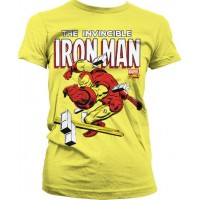 The Invincible Iron Man Girly T-Shirt Gul