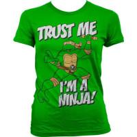 TMNT - Trust Me, I'm A Ninja Girly T-Shirt Grön