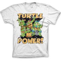TMNT - Turtle Power! T-Shirt Vit