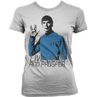 Star Trek - Live Long And Prosper Girly T-Shirt