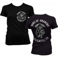 Sons Of Anarchy SOA Full CA Backprint Girly T-Shirt