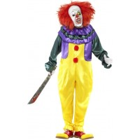 Läskig clown-dräkt