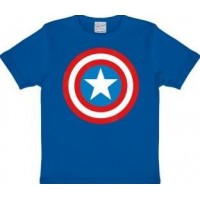 Marvel Captain America Sköld T-Shirt Barn Blå