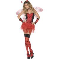 Fever Fröken insekt-dräkt röd och svart