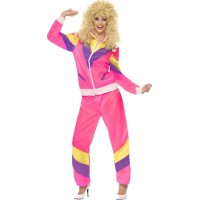80-talets högsta mode: Rosa träningsoverall