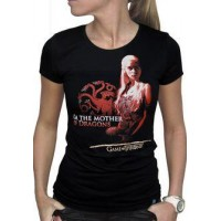 GoT Mother of Dragons Dam T-Shirt Svart