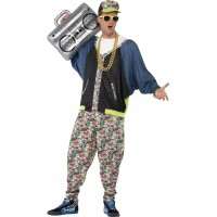 80-tals Hip Hop Maskeraddräkt