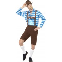 Bavarisk Herre Maskeraddräkt Oktoberfest