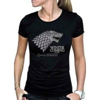 GoT Winter Is Coming T-Shirt Svart Dam