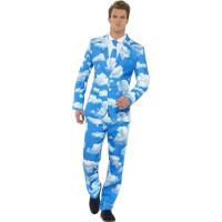 Himmelsblå kostym