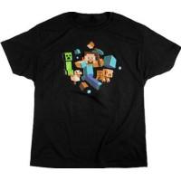 Minecraft Run Away! Glow in the Dark T-shirt Barn